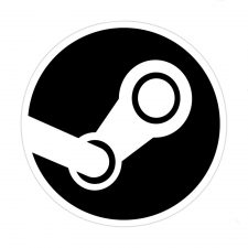 Steam Logo White BG